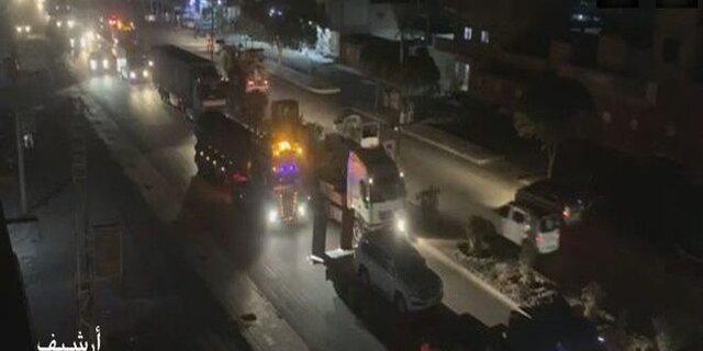 ورود نیروهای آمریکایی با 30 کامیون سلاح و مهمات از عراق به شمال سوریه