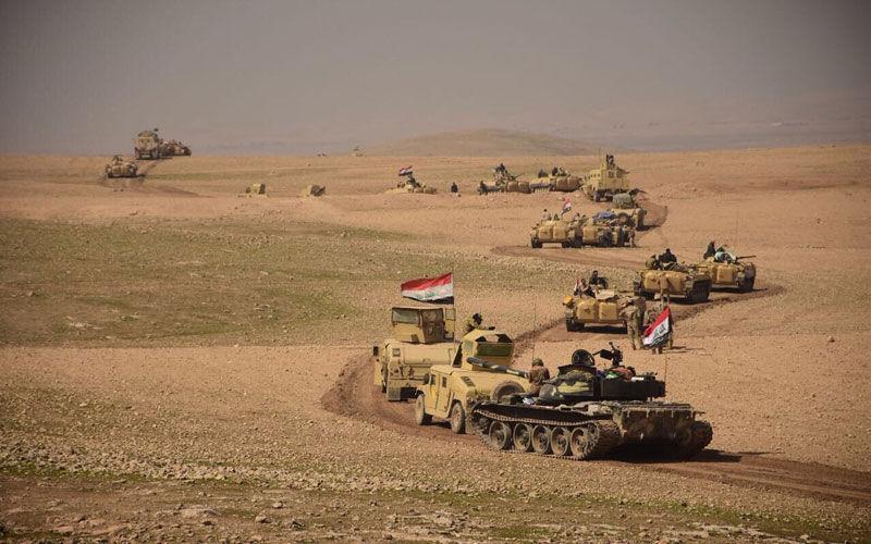 خبرنگاران پاکسازی 400 کیلومتر صحرای کربلا و ضربات هوایی به داعش