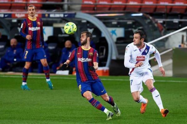 بارسلونا 1 - 1 ایبار؛ توقف ناامیدکننده در غیاب مسی